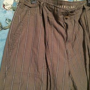AE striped crop pants 12 long